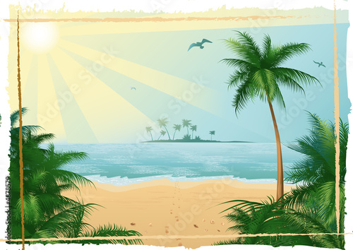 Leinwanddruck Bild Tropical beach