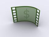Strip film dollar poster