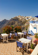 Restaurant with a beautiful landscape view (Santorini Island, Gr