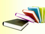 colored books isolated on glossy white #2 poster