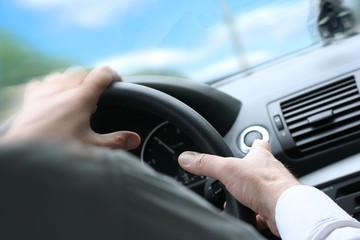 Quck Turn / Driving a Car / Steering Wheel