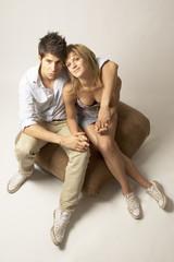 YOUNG COUPLE HUG