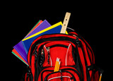 Red School Backpack poster