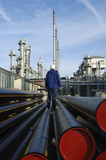 refinery, engineer pipes and gas poster