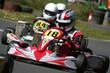 Leinwandbild Motiv Kart Race Closeup