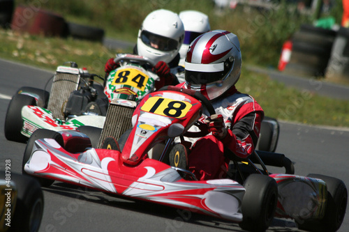 Plexiglas Motorsport Kart Race Closeup