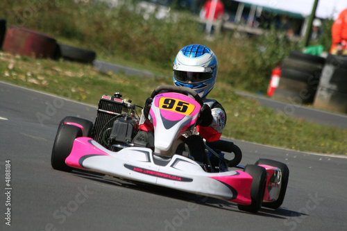 Foto op Canvas Snelle auto s Go Kart coming out of a bend