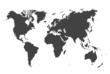 Weltkarte (grau)