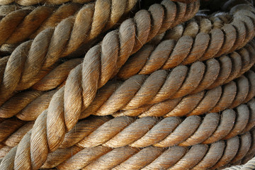 nautical rope coiled