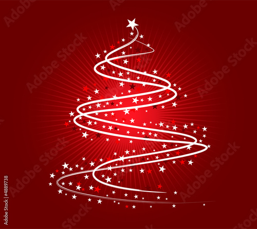 White Christmas tree design