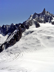 High Alps in the Mont Blanc region