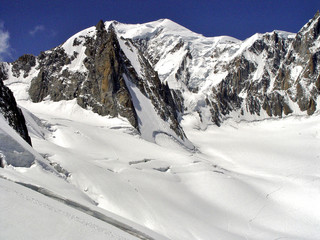 Alps in the Mont Blanc region
