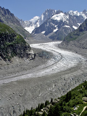 Glacier from Mont Blanc by Montrevers