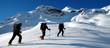 trio de skieurs