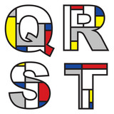 mondrian alphabets - part of a full set