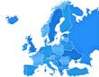 Carte Europe Camaieu Bleu