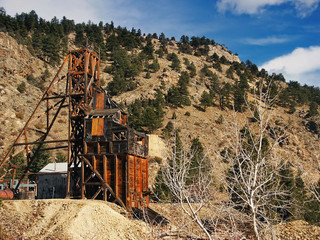 Old historical Gold Mine in Colorado