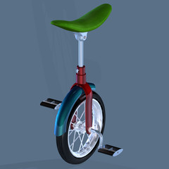 Bike with only one Tire.Image contains a Clipping Path