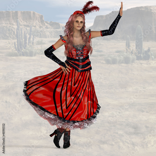 Saloon Girl #08, wild west series, with clipping path