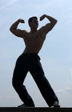 Muscular Man Showing His Biceps poster