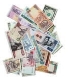 Exotic Banknotes Isolated on White poster