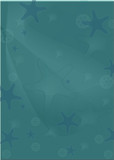 turquoise seastar background poster
