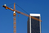 Crane and condominium construction poster