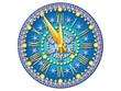 New year. Clock