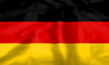 Rippled silk effect German flag poster