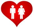 Couple dans un coeur