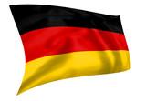 Rippled silk effect German flag flying poster