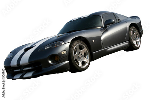 dark grey american muscle car