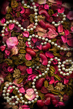 Dried flowers Leaves & Pearls poster