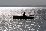 Silhouette of the fisherman