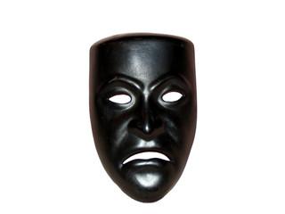 Black theater mask sad