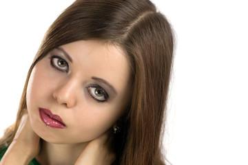 Portrait of sad beautiful woman