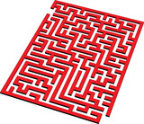 Find the way out from this 3D maze poster