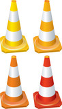 Four different traffic cones poster