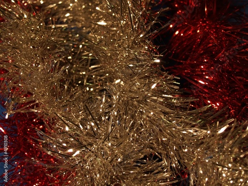 christmas sheeny tinfoil color decoration