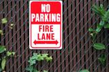 No parking fire lane sign. poster