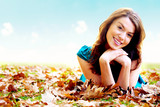 autumn girl portrait outdoors