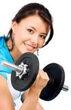 fit girl lifting weights poster