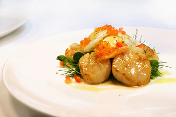 Seared scallop entree