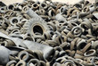 Junkyard Of Shredded Tires