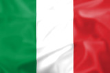 Silk effect Italian flag poster