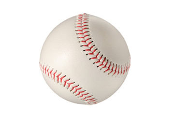 Baseball ball against white background