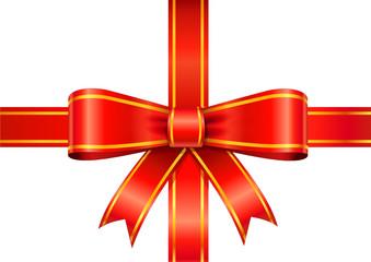 Ruban rouge paquet cadeau