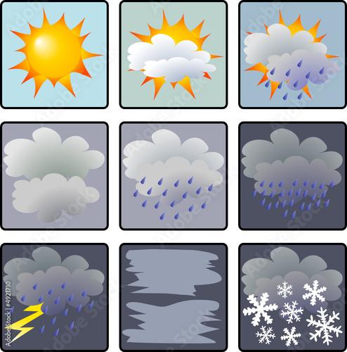 Icônes météo © Sylvain Bouquet #4921710 - See portfolio