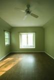 empty room condominium condo apartment green walls poster