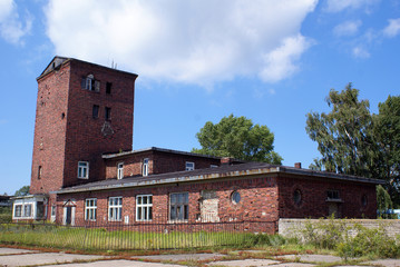Brick house with tower